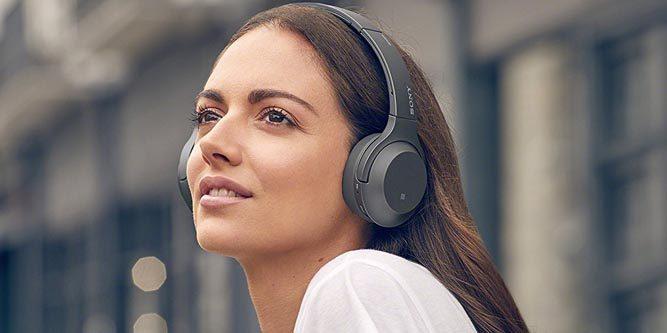Girl wearing on-ear headphones