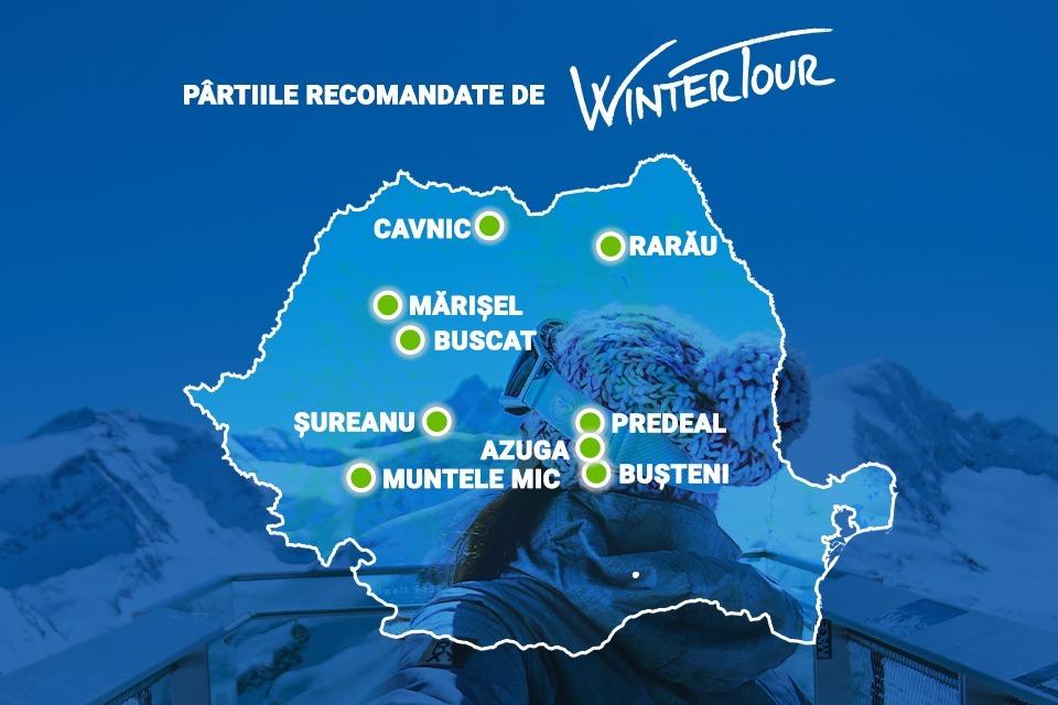 Traseu Winter Tour 2020 - pârtii România.