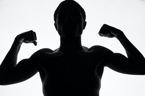 Man striking a powerful pose
