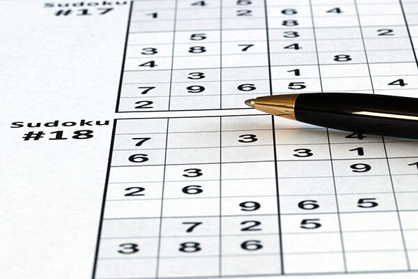 A sheet of Sudoku, a 4000 years old brain training game that is still being played.