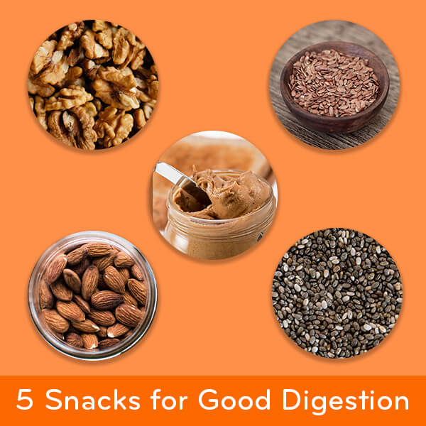 5 Snacks for Good Digestion: nuts and seeds