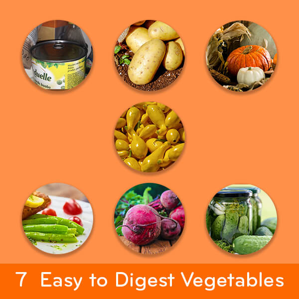 Easy to digest foods: 7 vegetables for an upset stomach