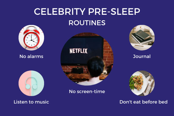 Five of the pre-sleep routines followed by top celebrities