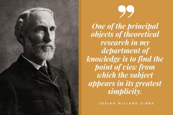 High-IQ Willard Gibbs genius simplicity quote