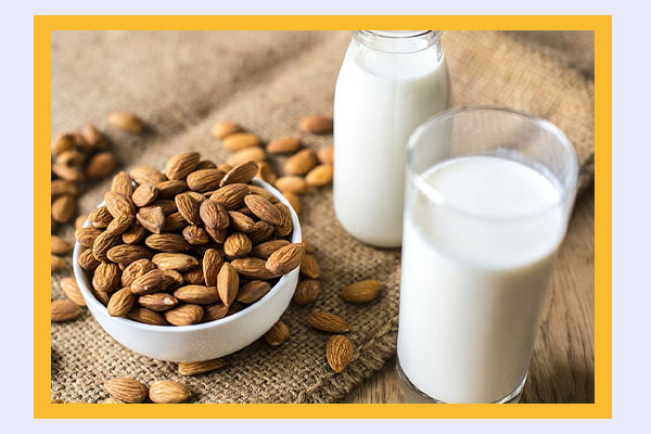 Glass of almond milk - low-calorie drinks for easy weight loss