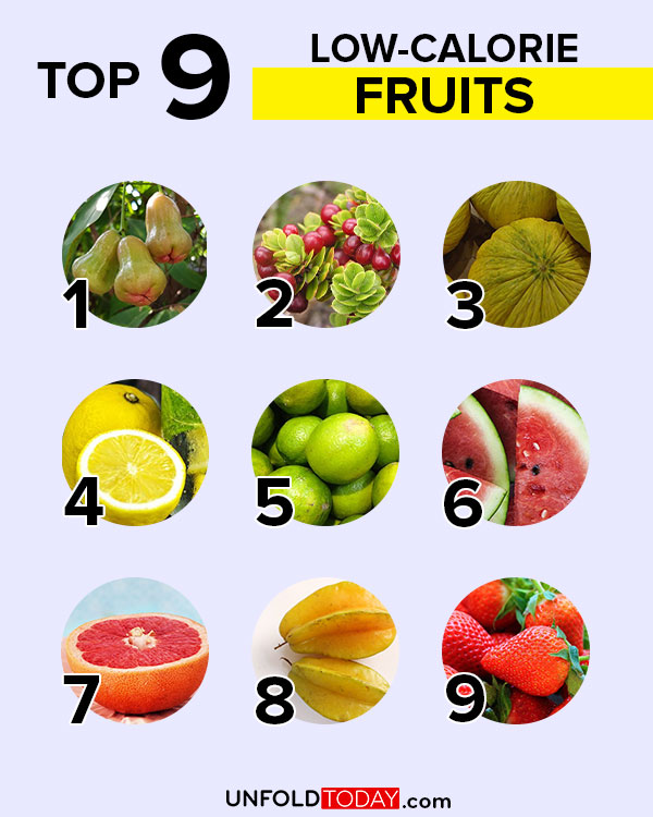 Low calorie foods: top nine fruits for weight loss
