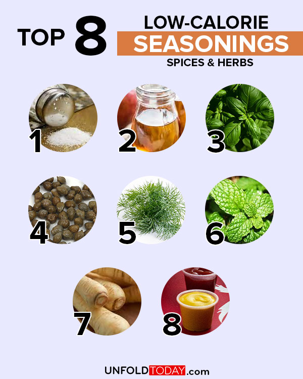 Top eight seasonings, spices and herbs with the lowest number of calories for easy weight loss