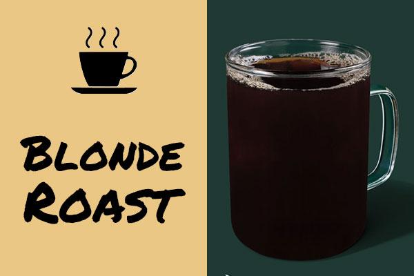 Healthy low-calorie Starbucks drinks: Blonde Roast coffee