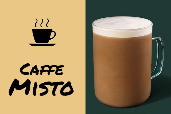 Healthy low-calorie Starbucks drinks: Caffe Misto