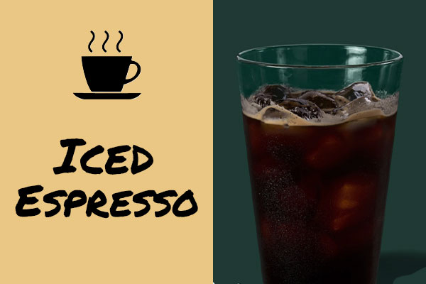 Healthy sugar-free Starbucks drinks: Iced Espresso