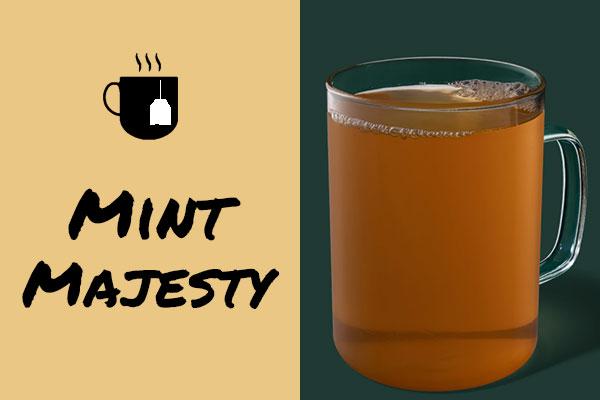 Healthy sugar-free Starbucks drinks: Mint Majesty