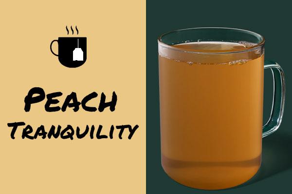 Healthy sugar-free Starbucks drinks: Peach Tranquility