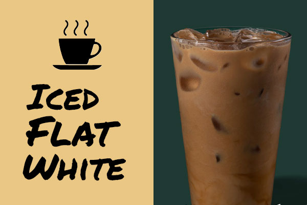 Healthy Starbucks drinks: Iced Flat White