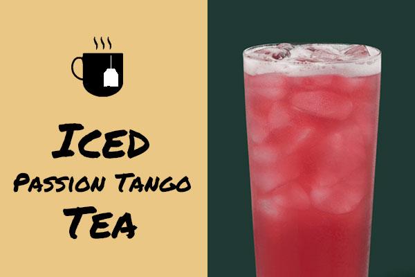 Low-calorie Iced Passion Tango Tea