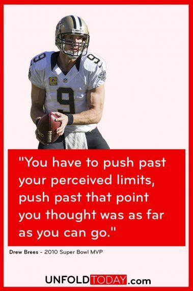 Drew Brees Fitness Goals Motivation Quote